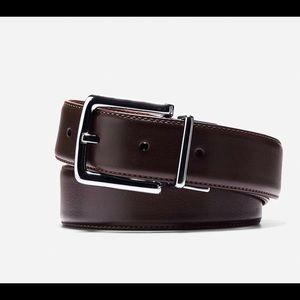 Cole Haan 22 reversible leather belt. Black/Brown.